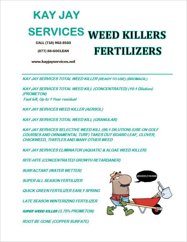 Weed Killers/Fertilizers