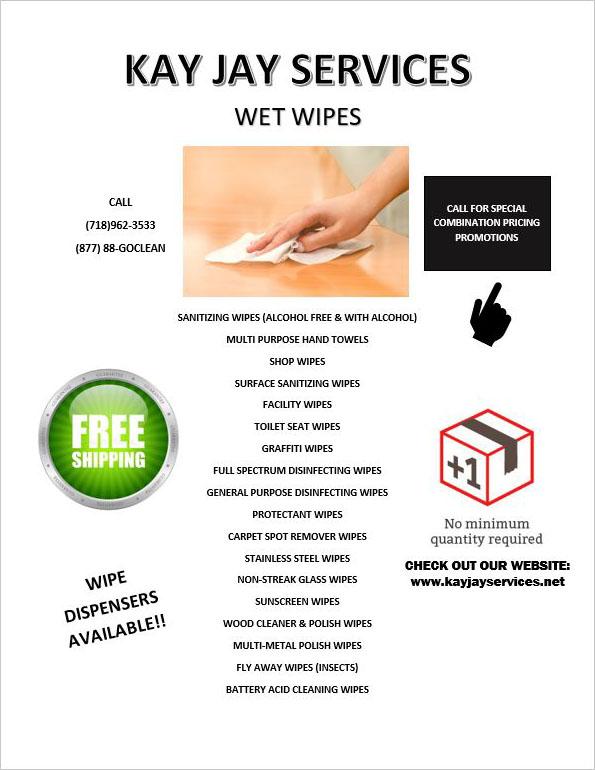 Wet Wipes Flyers