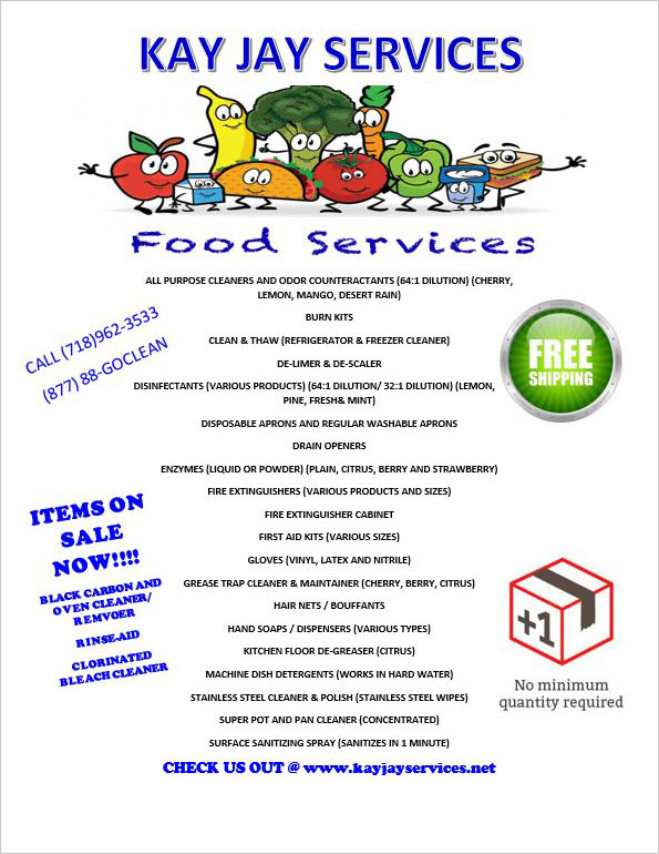 Food Services Flyer