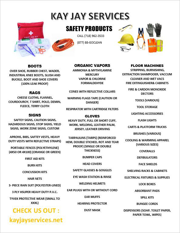 Safety Products Flyers